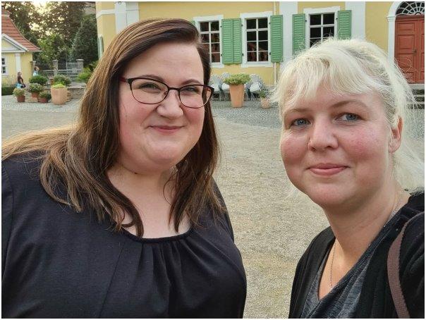 Jule und Peggy beim Sternenkinder Thüringen Treffen